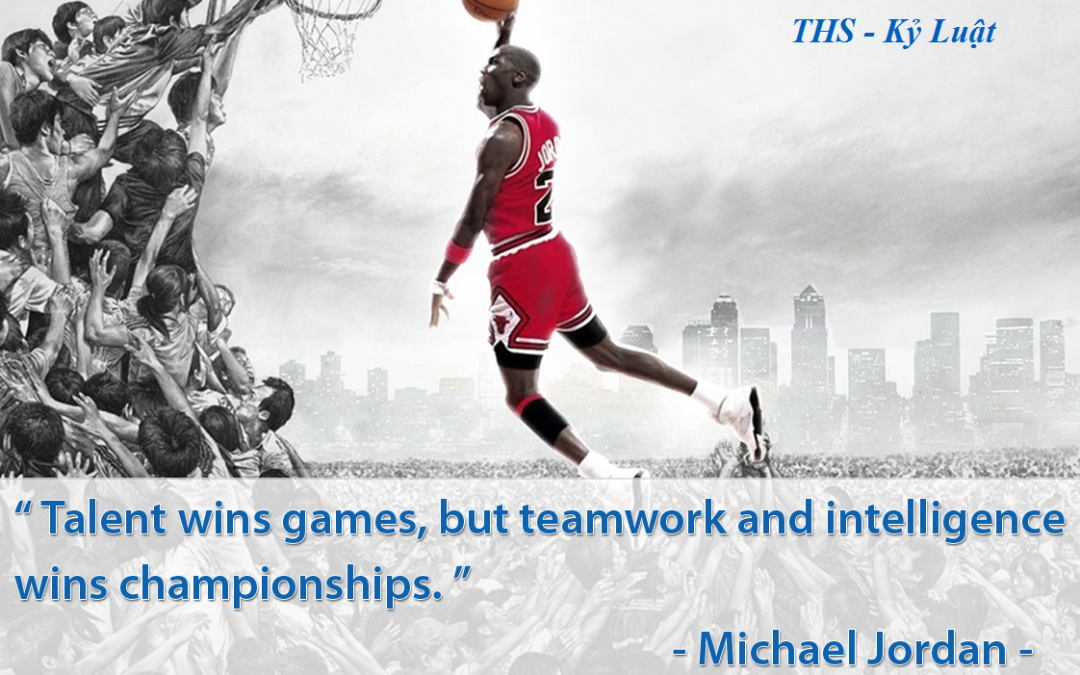 Talent wins games, but teamwork and intelligence wins championships