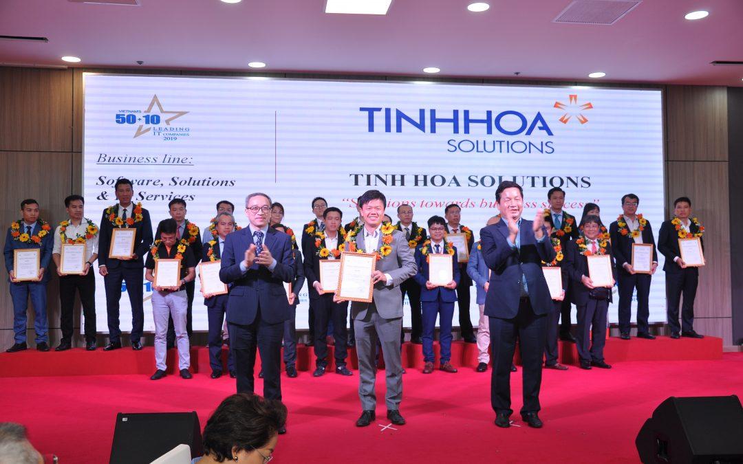 Tinh Hoa Solutions vinh danh trong top 50 doanh nghiệp về CNTT hàng đầu Việt Nam 2019.