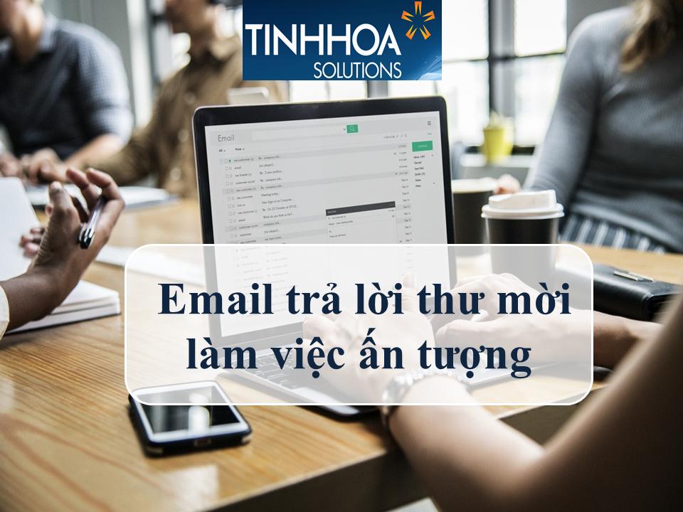Email trả lời thư mời làm việc